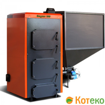 Пеллетный котел КОТЭКО Geyzer 40 кВт (автоматическая подача топлива)