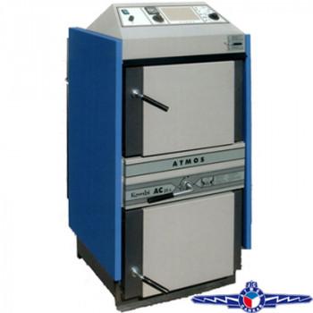 Котел пиролизный угольно-дровяной ATMOS AC35S - 30/35 кВт