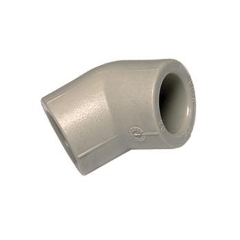 Полипропиленовый фитинг 1SPK2508 угольник 45°